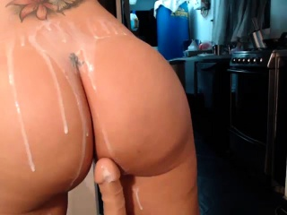 Chesty mature first-timer wifey fucktoys backside and fuckbox with fucktoys